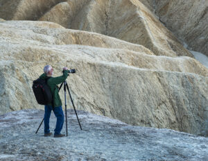 David Hoffman photographing Death Valley Photo by Franka Gabler