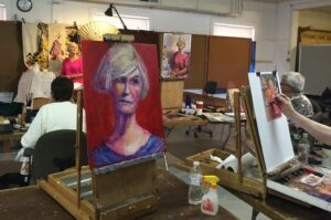 Live Model Painting