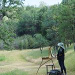 Artist plein air painting