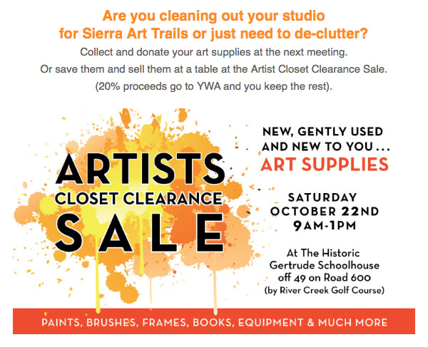 Artist's Closet Clearance Sale Image