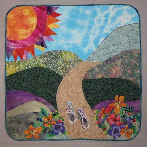 """My Personal App"" Quilt is Back Home-Presentation at Oakhurst Community Library"