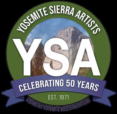 Yosemite Sierra Artists Badge Logo Round